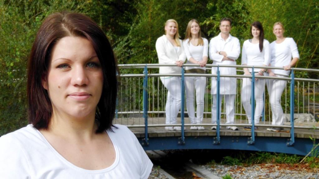 Mitarbeiterin des Teams der Kardiologie am Weißen Turm
